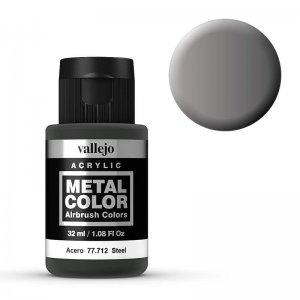Metal Color 712 - Stahl, 32 ml · VAL 77712 ·  Acrylicos Vallejo