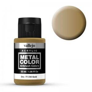 Metal Color 725 - Gold, 32 ml · VAL 77725 ·  Acrylicos Vallejo