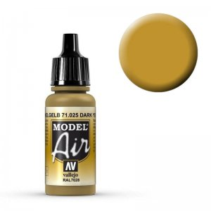 Model Air - Dunkelgelb (Dark Yellow) - 17 ml · VAL MA71025 ·  Acrylicos Vallejo