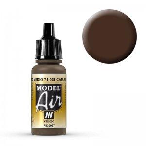 Model Air - Tarnfarbe Mittelbraun (Cam. Medium Brown) - 17 ml · VAL MA71038 ·  Acrylicos Vallejo
