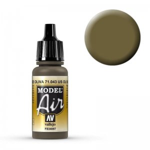 Model Air - Olivbraun (Olive Drab) - 17 ml · VAL MA71043 ·  Acrylicos Vallejo