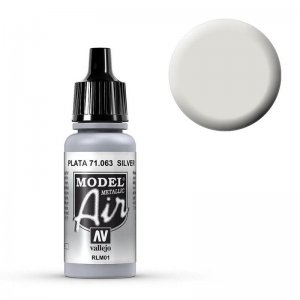 Model Air - Silber (Silver) - 17 ml · VAL MA71063 ·  Acrylicos Vallejo