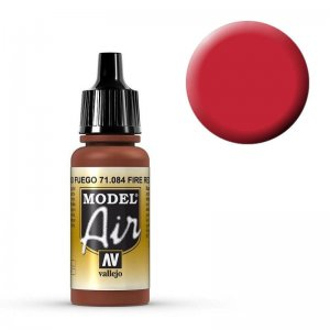 Model Air - Feuerrot (Fire Red) - 17 ml · VAL MA71084 ·  Acrylicos Vallejo