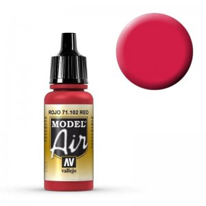 Model Air - Rot  (Red) RLM 23 - 17 ml · VAL MA71102 ·  Acrylicos Vallejo