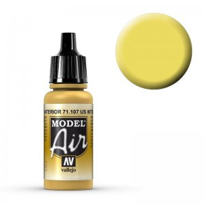Model Air - US Gelb Innenausstattung (US Interior Yellow) - 17 ml · VAL MA71107 ·  Acrylicos Vallejo