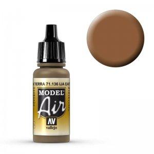 Model Air - IJA Earth Brown - 17 ml · VAL MA71136 ·  Acrylicos Vallejo
