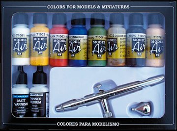 Basic Colors (10) 10er Set mit Airbrush · VAL MA71167 ·  Acrylicos Vallejo