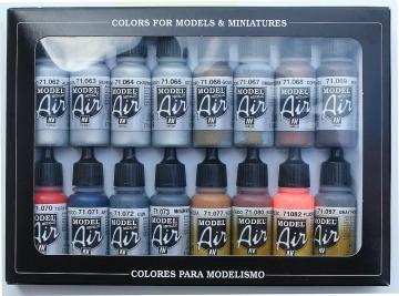 Metallfarben - Farbset · VAL MA71181 ·  Acrylicos Vallejo
