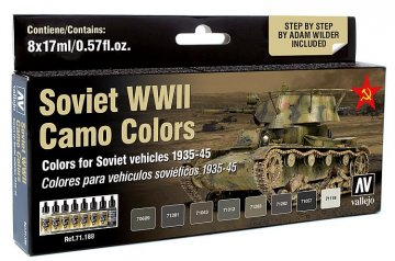 Farbset, sowjetische Tarnung WWII · VAL MA71188 ·  Acrylicos Vallejo