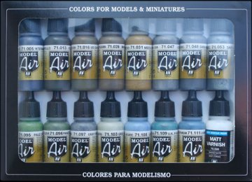 Model Air Set WWII British Aircraft RAF & FAA Paint Set (16) · VAL MA71189 ·  Acrylicos Vallejo