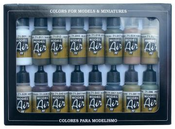 Model Air Set - WWII German Colors (16) · VAL MA71190 ·  Acrylicos Vallejo
