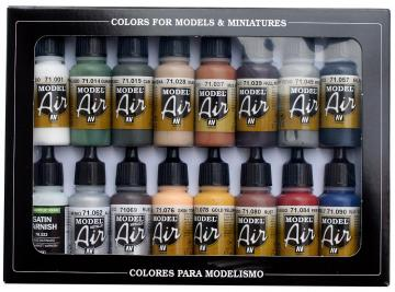 Model Air Set Railway Colors Set (16) · VAL MA71191 ·  Acrylicos Vallejo
