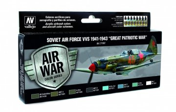 Farbset, Sowjetische Luftwaffe 1941 - 1943 · VAL MA71197 ·  Acrylicos Vallejo