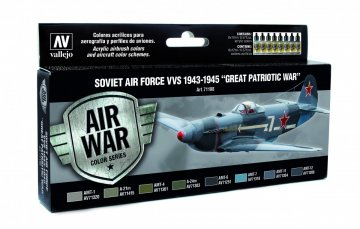 Farbset, Sowjetische Luftwaffe 1943 - 1945 · VAL MA71198 ·  Acrylicos Vallejo