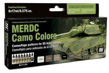 Farbset, US Army MERDC Tarnung · VAL MA71202 ·  Acrylicos Vallejo