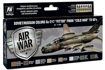 Model Air Farbset - Su 7/17 Fitter (8x17ml) · VAL MA71604 ·  Acrylicos Vallejo