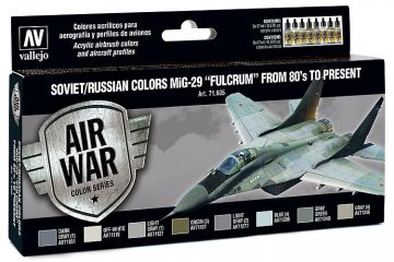 Model Air Farbset - MiG 29 Fulcrum (8x17ml) · VAL MA71605 ·  Acrylicos Vallejo