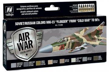 Model Air Farbset - MiG 23 Flogger (8x17ml) · VAL MA71606 ·  Acrylicos Vallejo