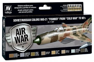 Model Air Farbset - MiG 21 Fishbed (8x17ml) · VAL MA71607 ·  Acrylicos Vallejo