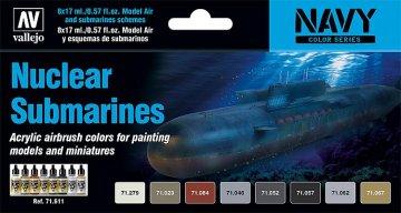 Farbset, Atom-U-Boote · VAL MA71611 ·  Acrylicos Vallejo