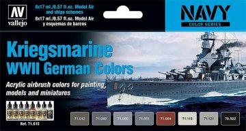 Farbset, Kriegsmarine WWII · VAL MA71615 ·  Acrylicos Vallejo
