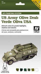 AFV Armour Painting System US Army Olive Drab · VAL MA78402 ·  Acrylicos Vallejo