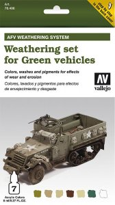 AFV Weathering System for Green Vehicles · VAL MA78406 ·  Acrylicos Vallejo