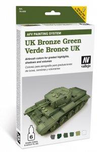 Farbset, UK Bronzegrün, 6 x 8 ml · VAL MA78407 ·  Acrylicos Vallejo