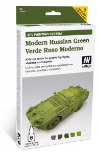Farbset, Russisch Grün Modern - 6 x 8 ml · VAL MA78408 ·  Acrylicos Vallejo