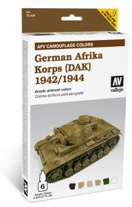Farbset, Deutsch Afrika-Corps 1942/44 - 6 x 8 ml · VAL MA78410 ·  Acrylicos Vallejo