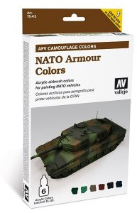 Farbset, Nato Tarnung, 6x8 ml · VAL MA78413 ·  Acrylicos Vallejo