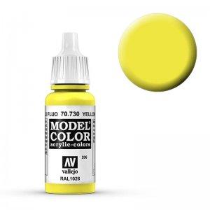 Model Color - Leuchtgelb (Yelow Fluo) [206] · VAL MC70730 ·  Acrylicos Vallejo
