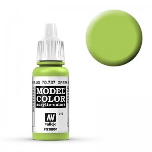 Model Color - Leuchtgrün (Green Fluo) [210] · VAL MC70737 ·  Acrylicos Vallejo