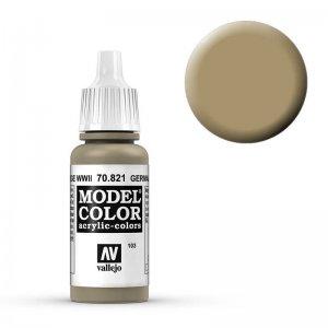 Model Color - Tarnung Beige (Germ. Cam. Beige WWII) [103] · VAL MC70821 ·  Acrylicos Vallejo
