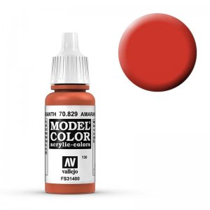 Model Color - Rotorange (Amarantha Red) [130] · VAL MC70829 ·  Acrylicos Vallejo