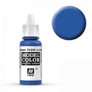Model Color - Ultramarine Blau (Ultramarine Blue) [055] · VAL MC70839 ·  Acrylicos Vallejo