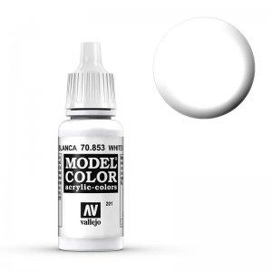 Model Color - Lasurweiss (White Glaze) [201] · VAL MC70853 ·  Acrylicos Vallejo