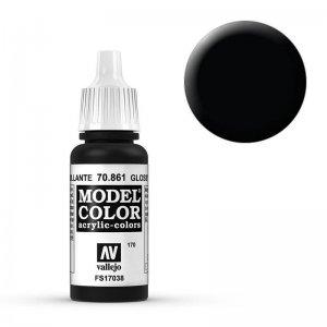 Model Color - Tiefschwarz (Lack) (Glossy Black) [170] · VAL MC70861 ·  Acrylicos Vallejo