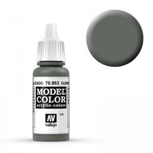 Model Color - Metallgrau (Gunmetal Grey) [179] · VAL MC70863 ·  Acrylicos Vallejo