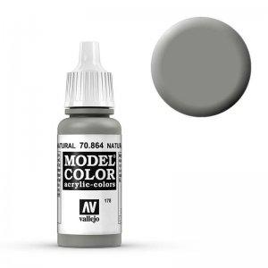 Model Color - Stahlgrau (Natural Steel) [178] · VAL MC70864 ·  Acrylicos Vallejo