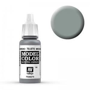 Model Color - Mittelgrau (Medium Sea Grey) [158] · VAL MC70870 ·  Acrylicos Vallejo