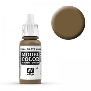 Model Color - Erdbraun (Us Field Drab) [142] · VAL MC70873 ·  Acrylicos Vallejo