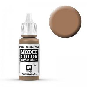 Model Color - Dunkel Erdbraun (USA tan-Earth) [134] · VAL MC70874 ·  Acrylicos Vallejo