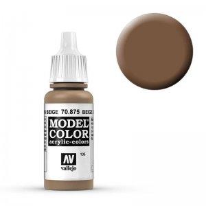 Model Color - Beigebraun (Beige Brown) [135] · VAL MC70875 ·  Acrylicos Vallejo