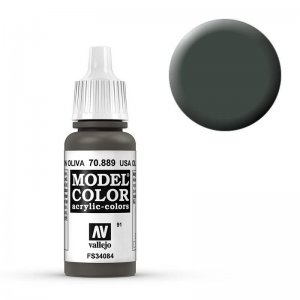 Model Color - Olivbraun (USA Olive Drab) [091] · VAL MC70889 ·  Acrylicos Vallejo