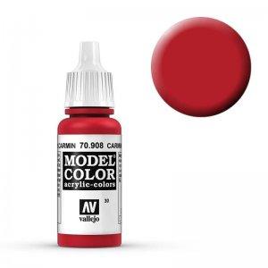 Model Color - Karminrot (Carmine Red) [030] · VAL MC70908 ·  Acrylicos Vallejo