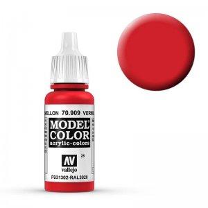 Model Color - Verkehrsrot (Vermillion Red) [028] · VAL MC70909 ·  Acrylicos Vallejo