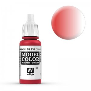 Model Color - Transparent Rot (Transparent Red) [186] · VAL MC70934 ·  Acrylicos Vallejo