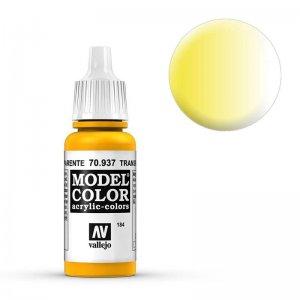 Model Color - Transparent Gelb (Transparent Yellow) [184] · VAL MC70937 ·  Acrylicos Vallejo