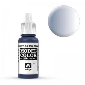 Model Color - Transparent Blau (Transparent Blue) [187] · VAL MC70938 ·  Acrylicos Vallejo